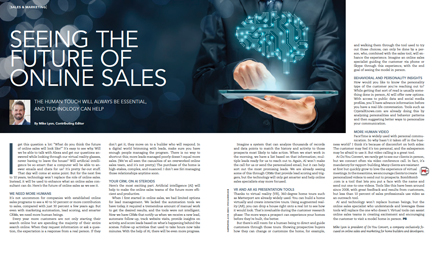 Seeing the Future of Online Sales