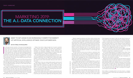 Marketing 2019: The A.I.-Data Connection