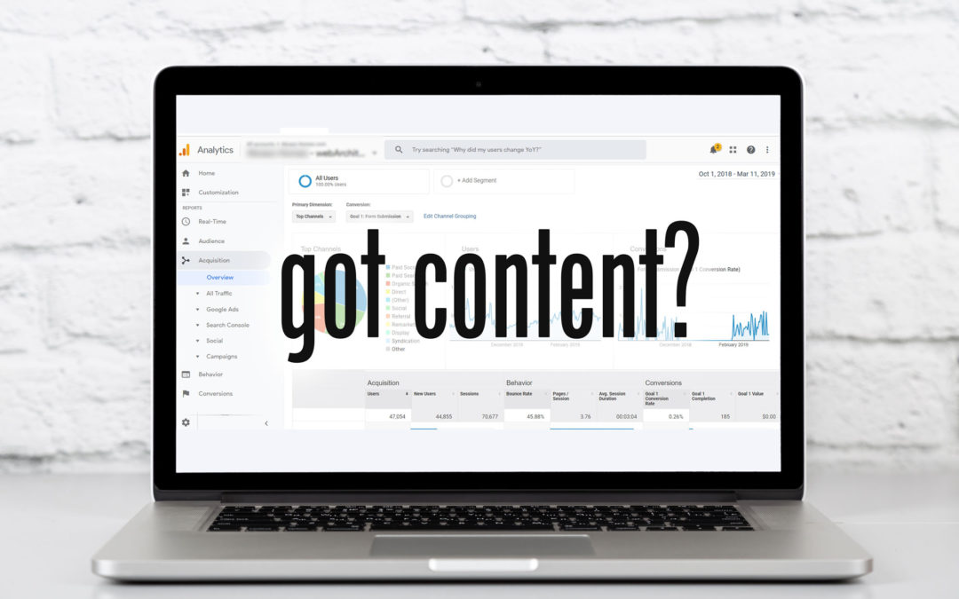 The Proof is in the Data – You Need More Content